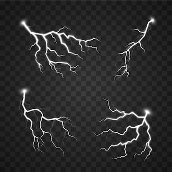 Het effect van bliksem, onweer, ritsen, symbool van natuurlijke kracht of magie, licht en glans, abstract, elektriciteit en explosie.