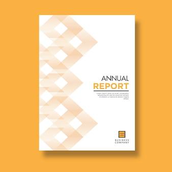 Het elegante gele jaarverslag van het patroonontwerp