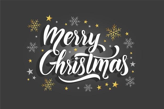 Het elegante kerstmis van letters voorzien op kerstmisfoto