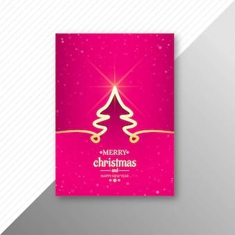 Het elegante ontwerp van de het malplaatjebrochure van vierings vrolijke kerstmis
