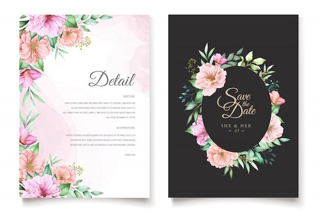 Het elegante thema van de het huwelijksuitnodiging van de kersenbloesem