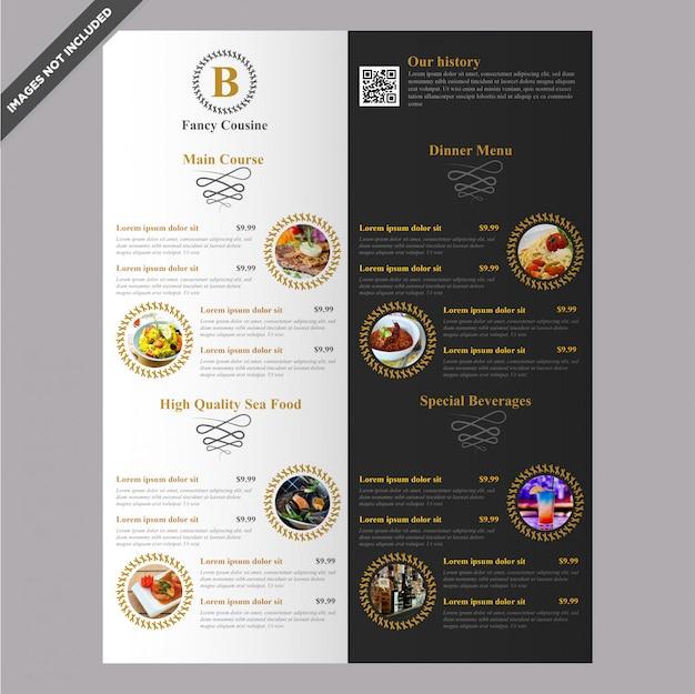 Het elegante van het het menumalplaatje van het restaurantkoffie editable ontwerp