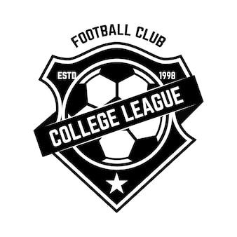 Het embleem van de voetbalclub. ontwerpelement voor logo, label, teken, poster.
