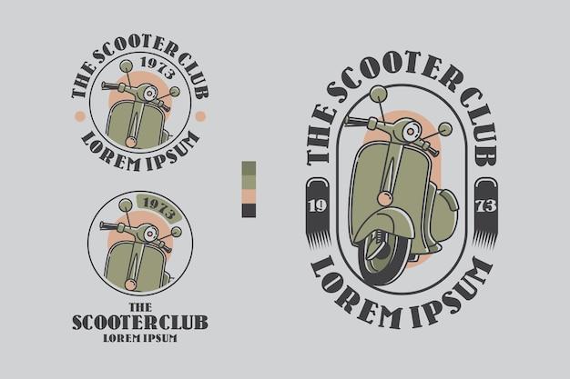 Het embleem van het embleem van het embleem van de scooterclub