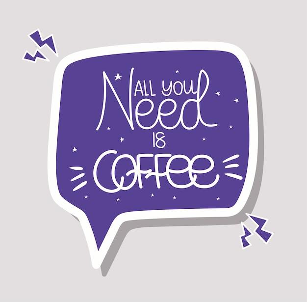 Het enige wat je nodig hebt is koffiebelettering
