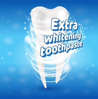 Het extra het witten concept van tandpasta gezonde tanden