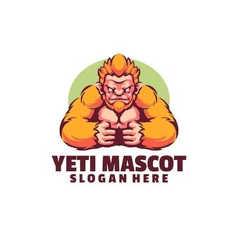 Het felle, sterke gezicht van de yeti - de perfecte mascotte, niet alleen voor sportgerelateerde bedrijven.
