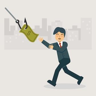 Het geld phishing en aas