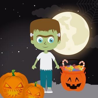 Het gelukkige halloween-ontwerp van de festivalpartij.