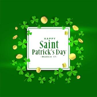 Het gelukkige st patricks ontwerp van de dag groene banner