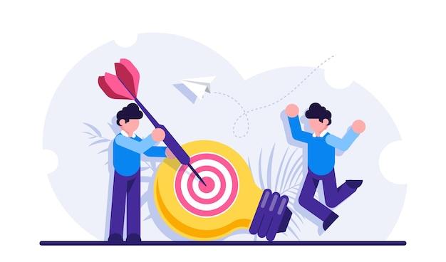 Het genereren van marketingideeën, bedrijfsinnovatie, creativiteit, het behalen van doelen