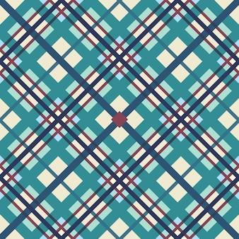 Het geometrische patroon van kruisende stroken
