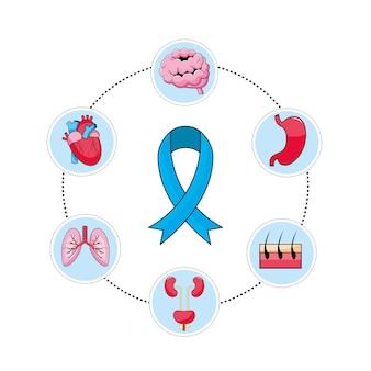 Het gezondheidslint van mensen met preventiediagnose