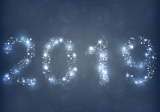 Het gloeiende licht van het nieuwe jaar 2019 achtergrond