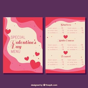 Het golvende concept van het valentijnskaartmenu