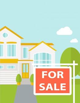 Het huis te koop.