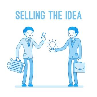 Het idee verkopen