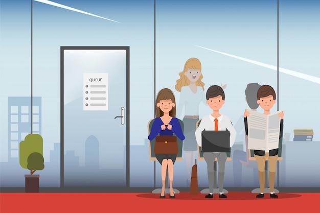 Het inhuren van job interview business human resource.