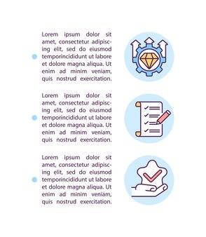 Het instellen van verwachtingen concept lijn pictogrammen met tekst