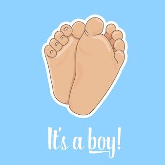 Het is een aankondigingskaart voor jongens