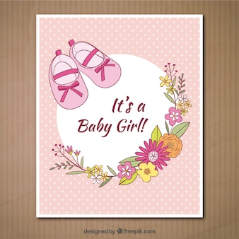 Het is een kaart van het babymeisje