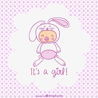 Het is een meisje, leuk babymeisje