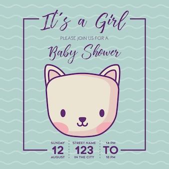 Het is een uitnodiging van het babydouche van het meisje