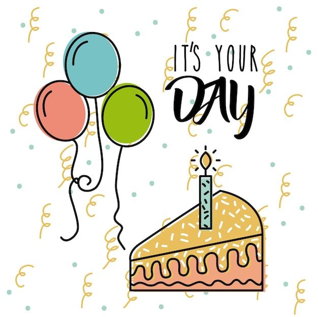 Het is jouw dag verjaardagsviering poster