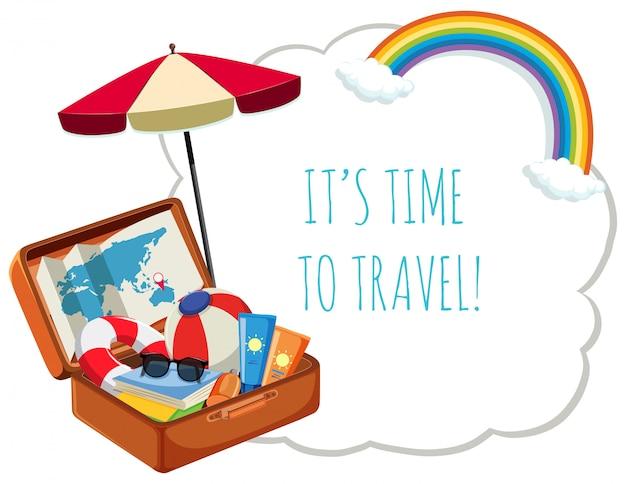 Het is tijd om te reizen