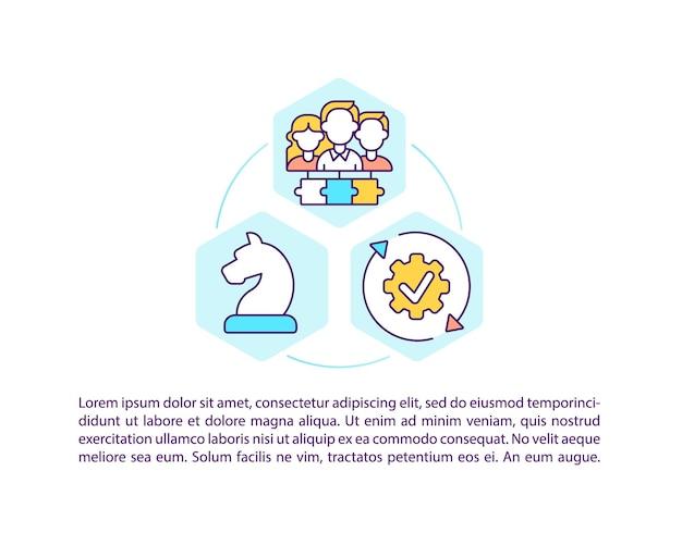 Het juiste pad naar creativiteit concept pictogram met tekst. samenwerkingssysteem ppt-paginasjabloon. strategieplanning.