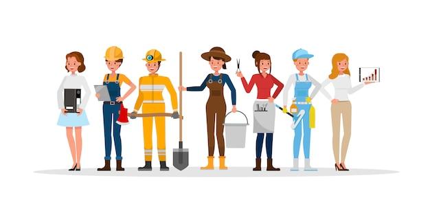Het karakter van het loopbaanpersoneel omvat boer, zakenman, kapper, brandweerman, bouwer en chef-kok.
