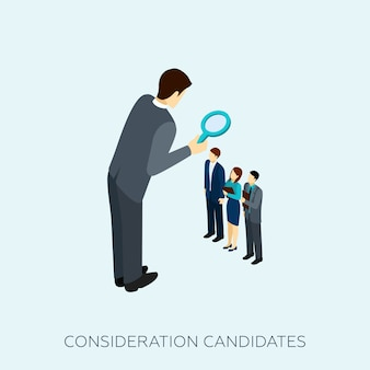 Het kiezen van een kandidaat concept illustratie
