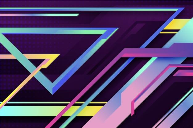Het kleurrijke behang van gradiënt geometrische vormen