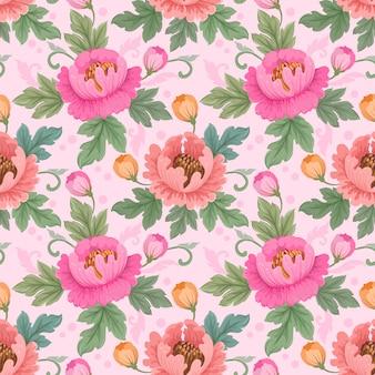 Het kleurrijke hand getrokken vectorontwerp van het bloemenpatroon. kan voor stoffen textielbehangachtergrond gebruiken.