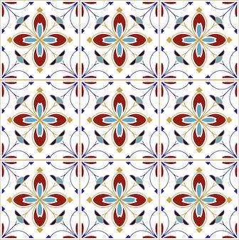 Het kleurrijke ontwerp van patroon naadloze tegels, vatten kleurrijk lapwerk samen