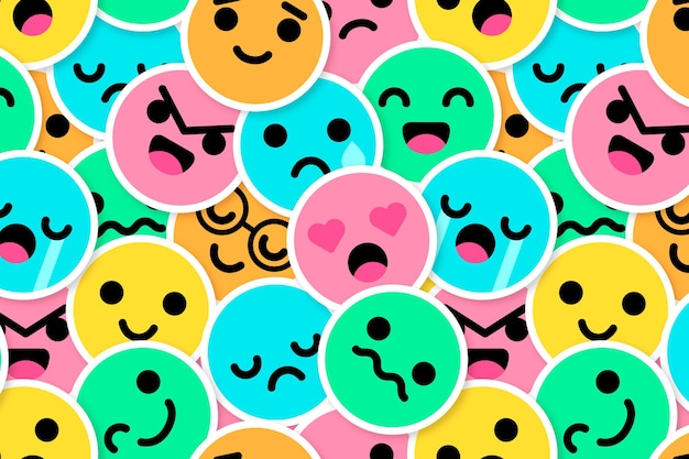 Het kleurrijke patroon van glimlachemoticons