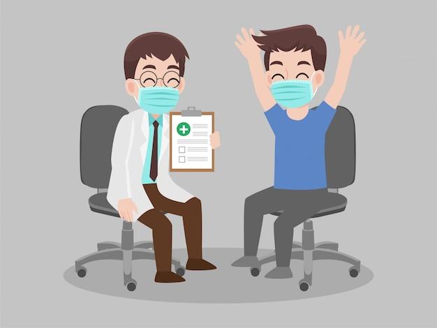 Het laboratoriumresultaten van de artsenholding van een patiënt die positief