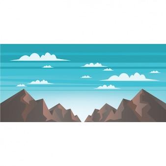 Het landschap van bergen achtergrond ontwerp