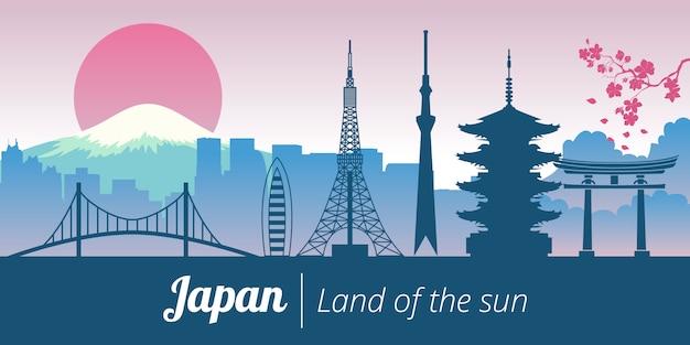 Het landschap van de het oriëntatiepunttoren van japan tokyo kyoto
