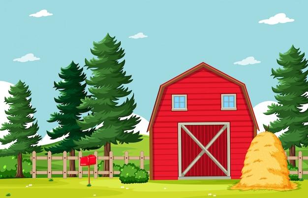Het lege landschap van het achtergrondaardlandbouwbedrijf