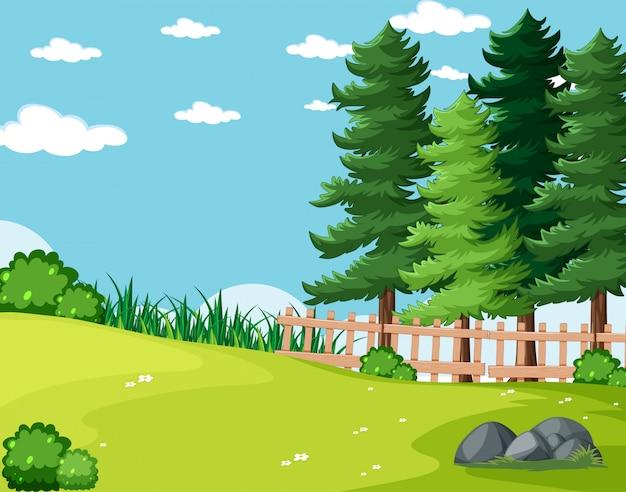 Het lege landschap van het achtergrondaardpark