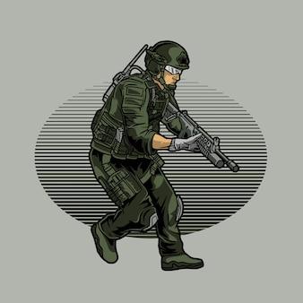 Het leger bereidt zich voor op een aanval
