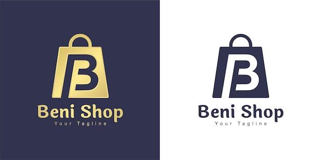 Het letter b-logo heeft een winkelconcept