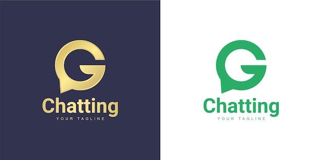 Het letter g-logo heeft een chat-concept