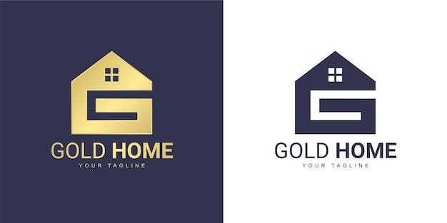 Het letter g-logo heeft een onroerendgoedconcept