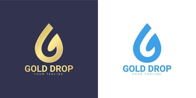 Het letter g-logo heeft het concept van een waterdruppel