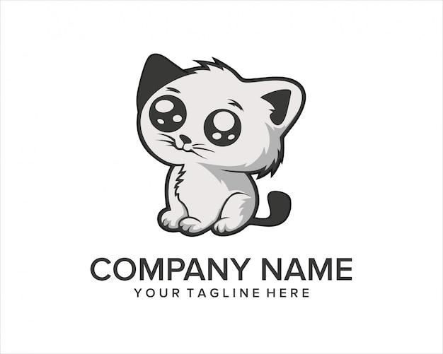 Het leuke embleem van de kat cartoon