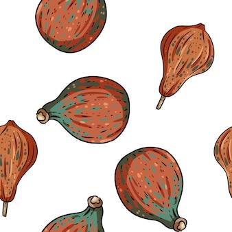 Het leuke naadloze patroon van het pompoenenbeeldverhaal.