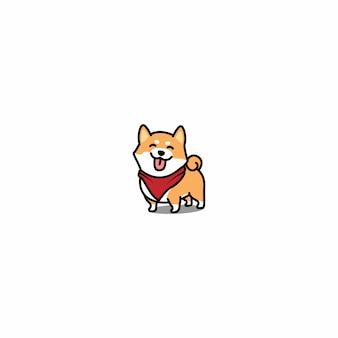 Het leuke shiba-inu glimlachen
