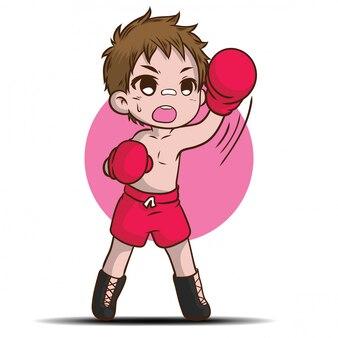 Het leuke thaise karakter van het jongensbeeldverhaal.